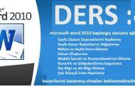 microsoft word 2010 başlangıç seviyesi eğitim ders 4