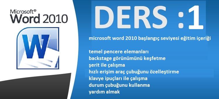 microsoft word 2010 öğrenme videoları
