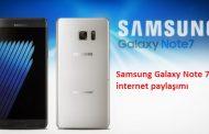 samsung galaxy note 7 internet paylaşımı