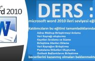 microsoft word 2010 ileri seviyesi eğitim ders 4