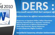 microsoft word 2010 ileri seviyesi eğitim ders 1